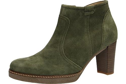 Gabor 55756-11 - Zapatos mujer moderno Botines, Verde, cuero (kalbvelour), altura de tacón: 60 mm: Amazon.es: Zapatos y complementos