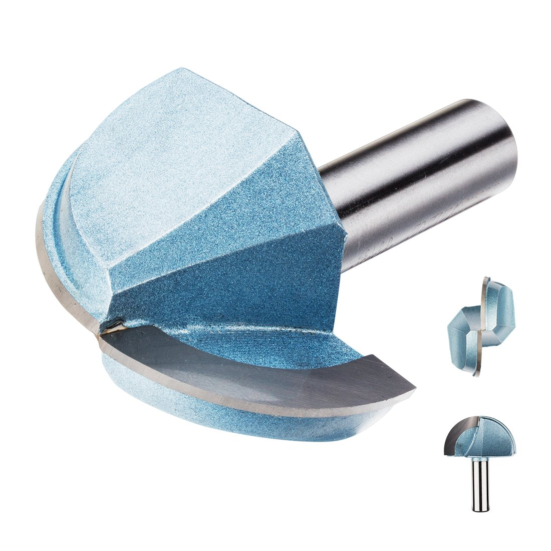 uxcell 2-Inch Diameter 2-Flute Carbide Cove Core Box Router Bit with 1/2-inch Steel Shank