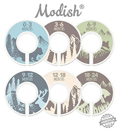 Modish Labels Baby Nursery Closet Dividers Closet Organizers Nursery Decor Baby Boy  sc 1 st  Amazon.com & Amazon.com : Modish Labels Baby Nursery Closet Dividers Closet ...