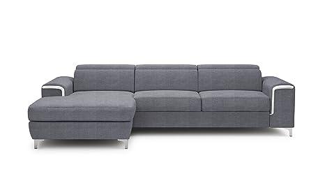 Excellent Amazon Com Eqsalon Carlo Mini Grey Stylish Sectional With Creativecarmelina Interior Chair Design Creativecarmelinacom