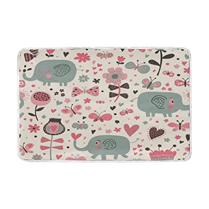 Amazon.com: ALAZA elefante ilustración rosa gris manta ...
