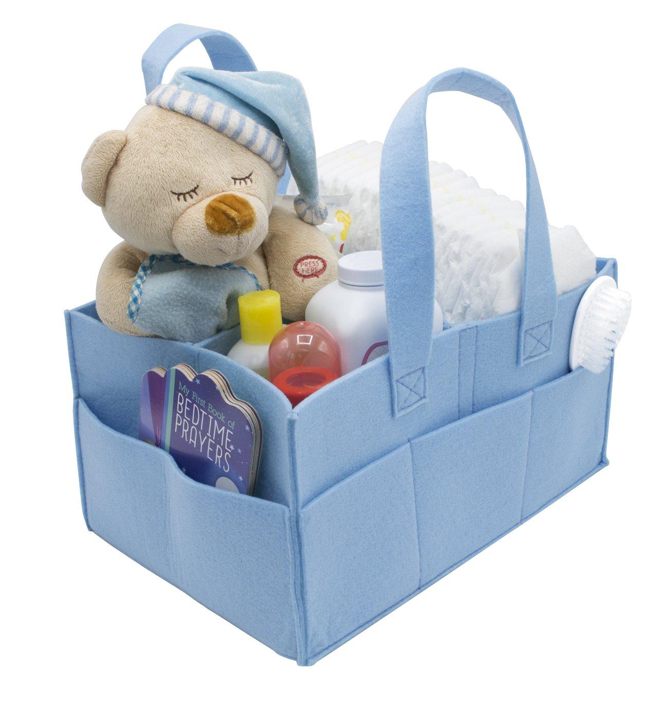Amazon.com : Sorbus Felt Baby Organizer Diaper Caddy with Handle ...