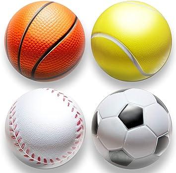 4stk | estrés pelota en mini Sport Diseño Anti estrés pelotas para ...