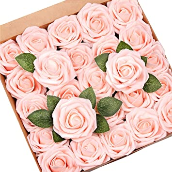 Light Pink and white color flowers Artificial Flowers Pink Decor Pink color DIY Wedding flowers Foam Flowers Flowers Centerpieces