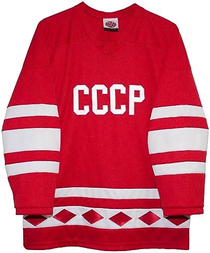 Amazon.com   Russian 1980 CCCP Red Hockey Jerseys by K1 Sportswear ... f3f36f457be