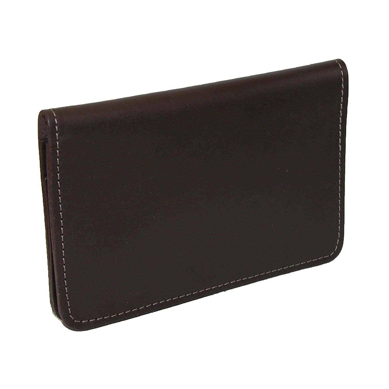 CTM® Leather Top Stub Checkbook Cover, Brown NS-131-BRN