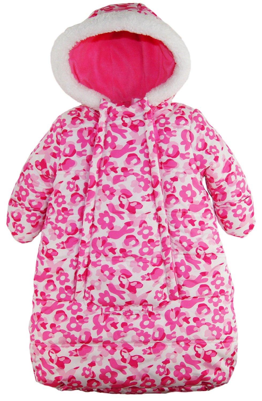 Pink Platinum Baby Girls Snowsuit Carbag Floral Camo Winter Puffer Bunting Pram