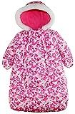 Pink Platinum Baby Girls Snowsuit Carbag Floral