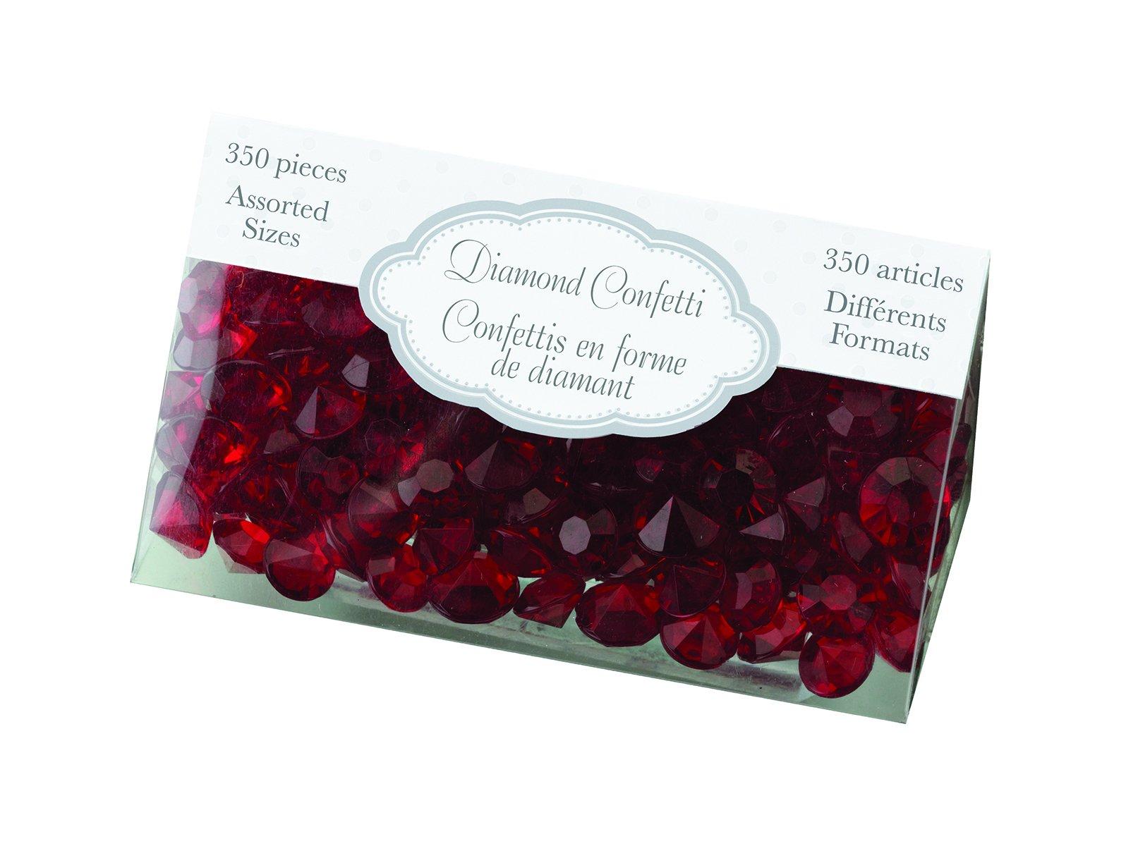 Lillian Rose Party Decor Crystal Diamond Table Confetti Red