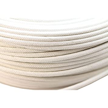 2 5 mm Heat Resistant High Temperature Glass Fibre Wire Cable, White 1m  Fryer Inventory ONLY