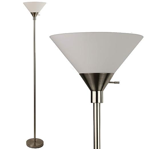 Amazon.com: Lámpara de pie con tonos acrílicos de plata ...