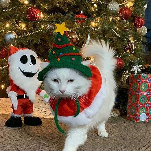 TwoCC Sombrero de Gato de Navidad Sombrero de Gato de Árbol de ...