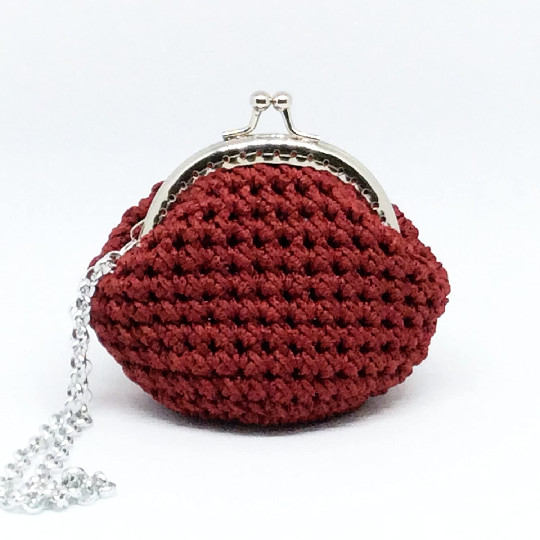 LOLA - Italian Handmade - Monedero hecho a mano. Crochet ...