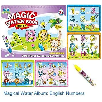 Livre De Coloriage Magique Dessin A L Eau Album Album Magie