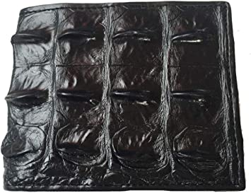 Genuine crocodile En Cuir Bi-Fold Portefeuille