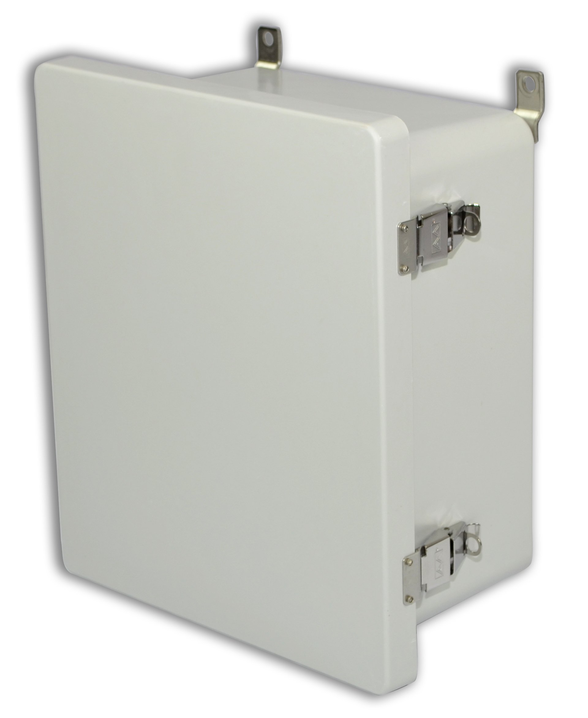 Allied Moulded AM1648L AM Series Fiberglass JIC Size Junction Box, Snap Latch and Hinged Cover