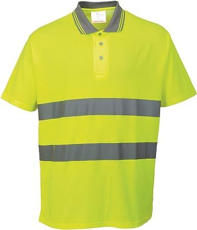 Portwest - Polo/Camisa de Seguridad de Alta Visibilidad algodón ...