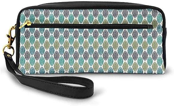 Formas geométricas ovales Varios Estilos Líneas Remolinos Étnico Tribal Pequeña Bolsa de Maquillaje con Cremallera Estuche de lápices 20cm * 5.5cm * 8.5cm: Amazon.es: Equipaje
