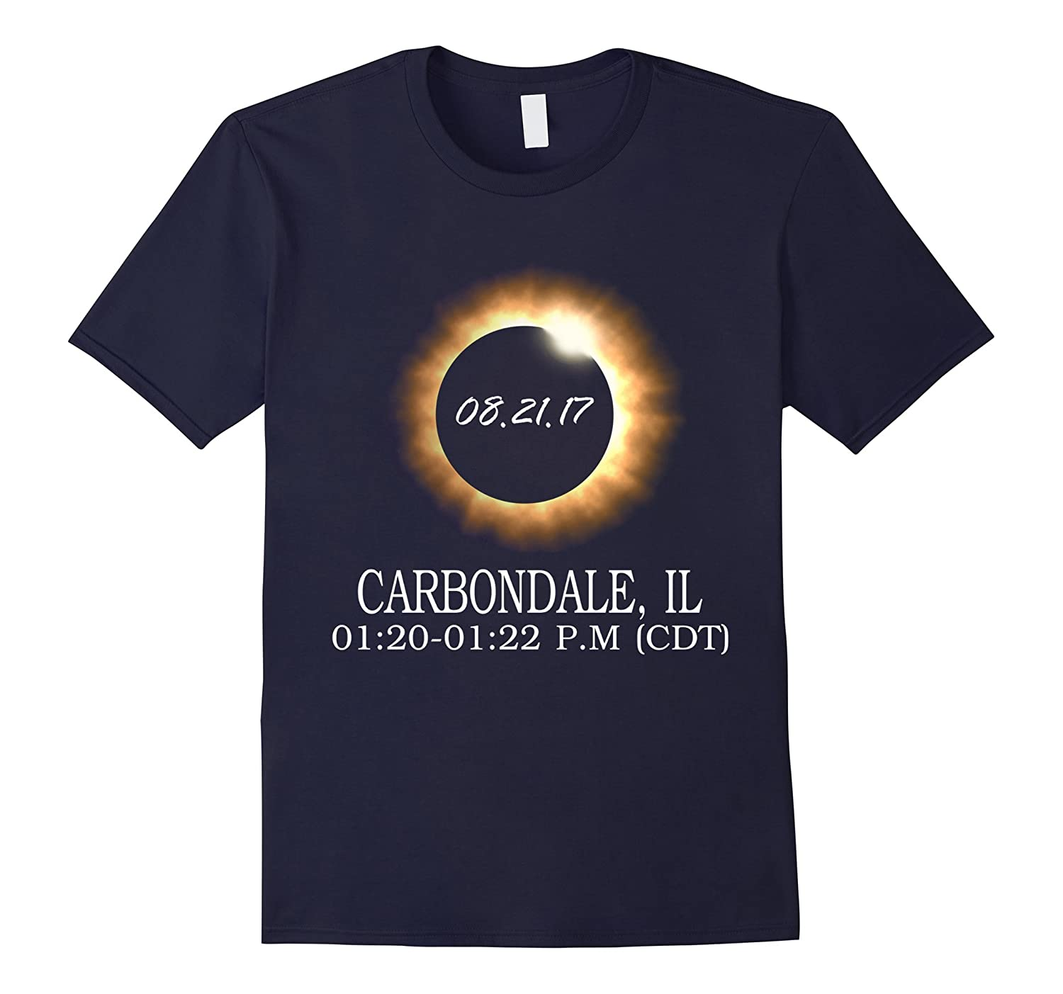 Carbondale, IL Total Solar Eclipse Summer T Shirt-Art