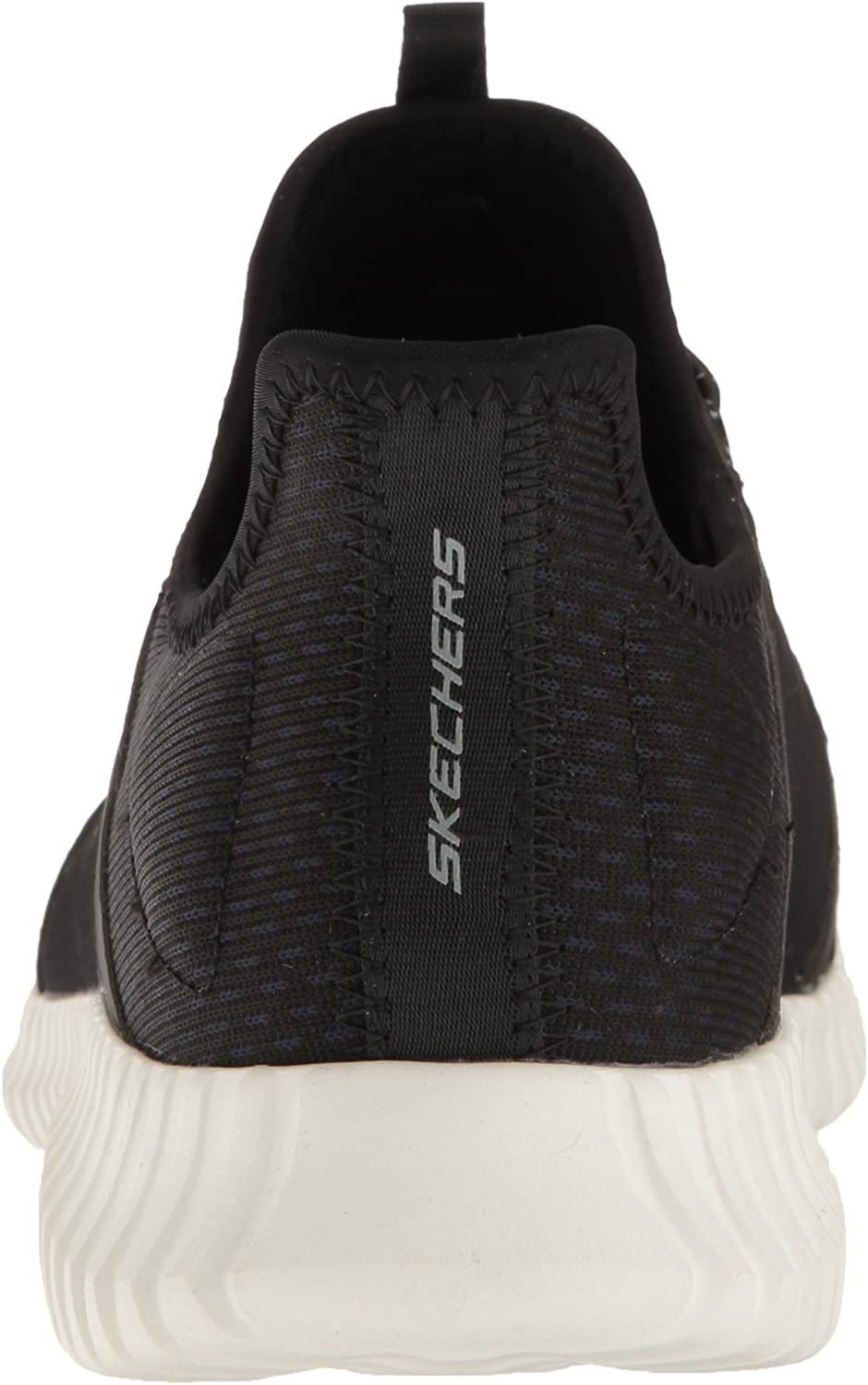 Skechers Herren Elite Flex-52640 Slip On Sneaker Schwarz Black Weiß