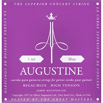 Augustine Regal Blue Set Copper Wound Classical Guitar Strings