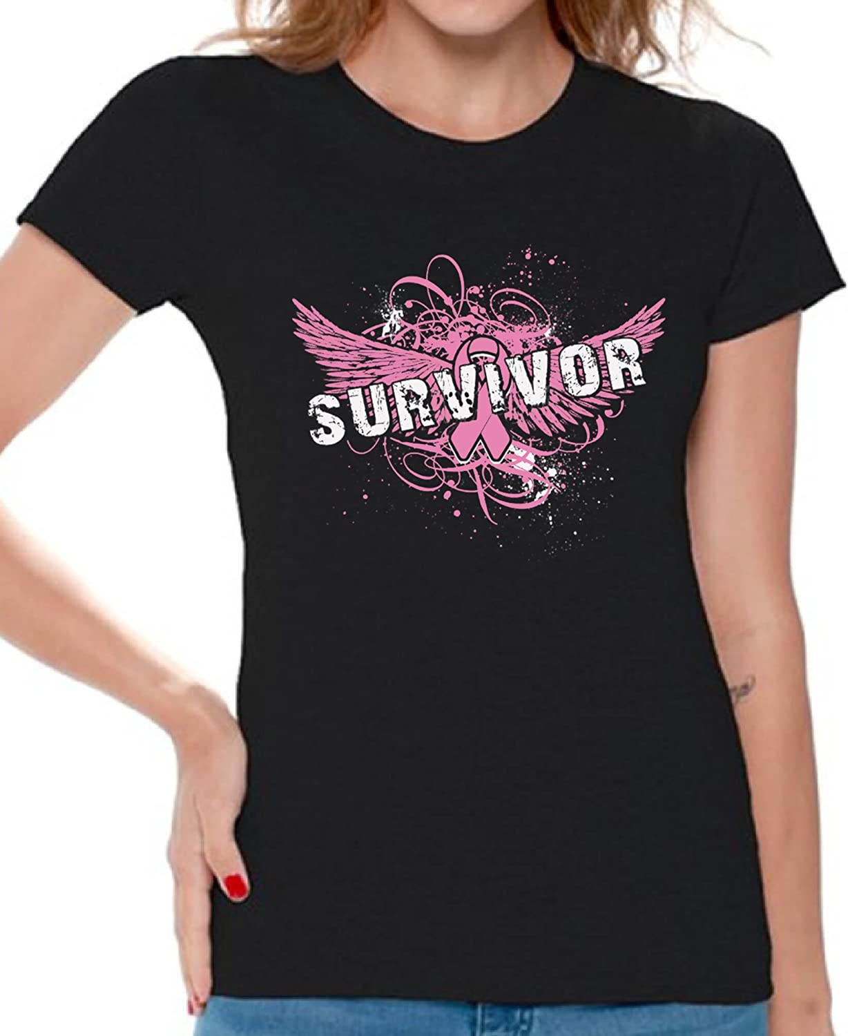 Breast Cancer Awareness Shirt Breast Cancer Ribbon Cancer Awareness Cancer Survivor Shirt Breast Cancer Gift Breast Cancer Shirt
