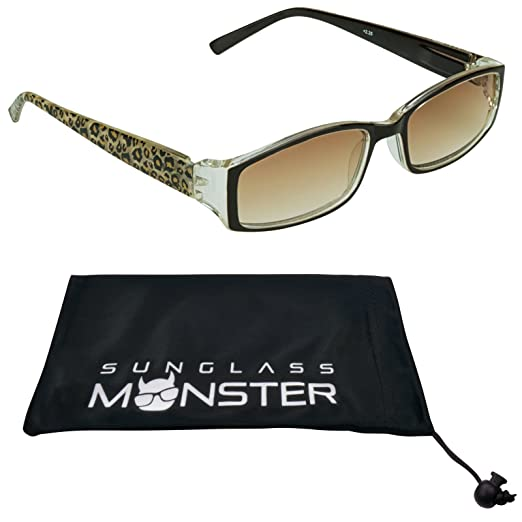 798a96577563 Amazon.com: Reading sunglasses for women. Giraffe, Cheetah, Pink Cheetah or  Zebra Print Frames: Clothing