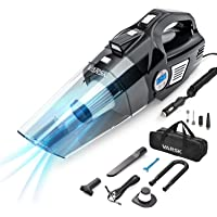$35 » VARSK 4-in-1 Car Vacuum Cleaner, Tire Inflator Portable Air Compressor with Digital Tire…