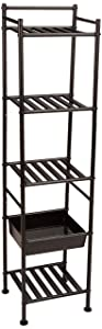 AmazonBasics 5-Tier Shelf with Basket