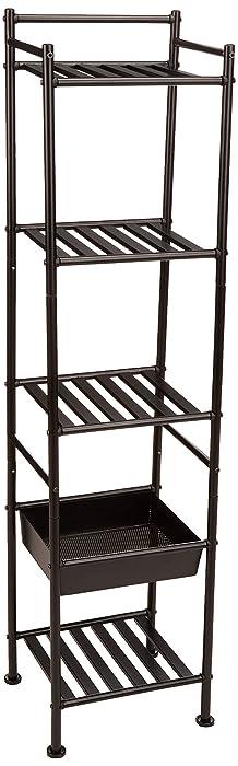AmazonBasics 5-Tier Shelf with Basket