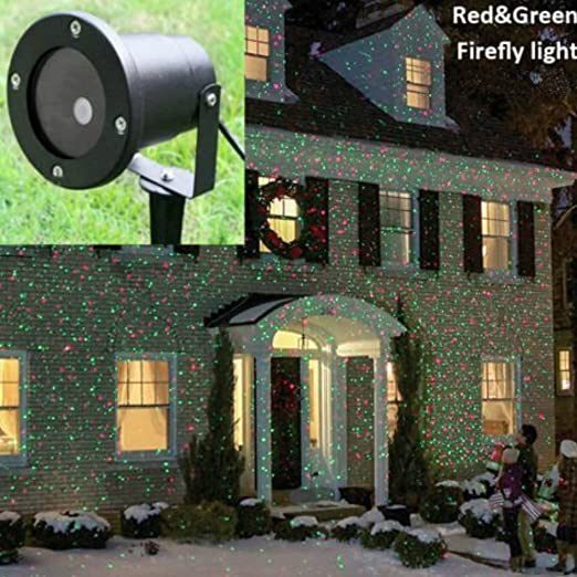 auben waterproof star projector outdoor christmas lights elf projectorred green moving lights for