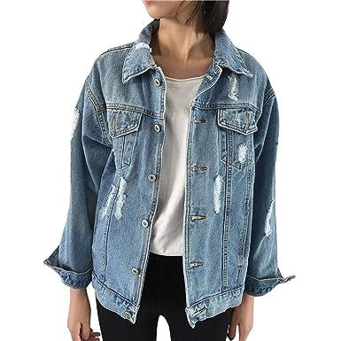 promo code 6d8e0 89fc0 JURTEE Giacca Jeans Donna Elasticizzata Eleganti retrò Felpe ...