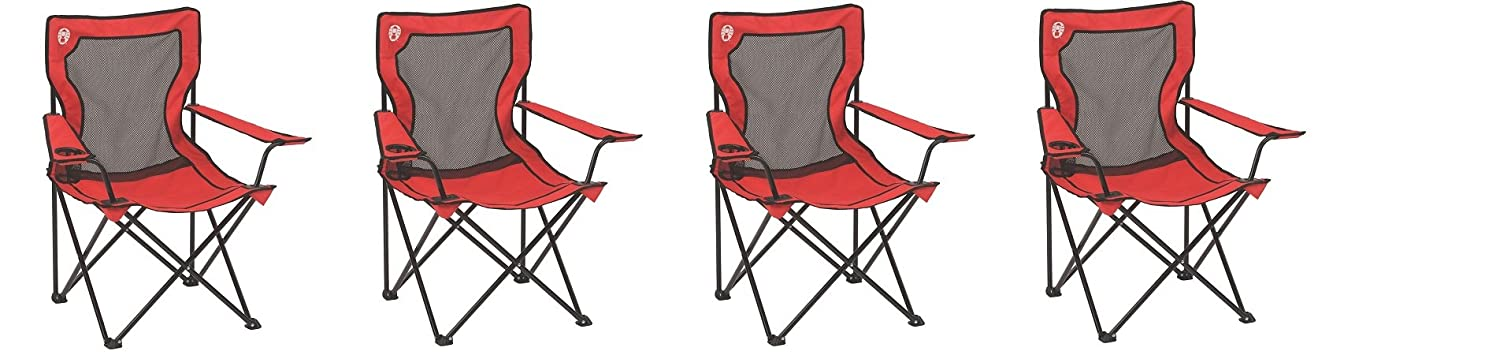 ColemanブロードバンドメッシュQuad Chair 2 Chairs NA B075278361 2 Chairs  2 Chairs