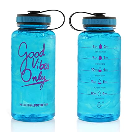 8354f666e0 Motivational Bottle 34oz Fitness Workout Sports Water Bottle Unique  Timeline | Measurements | Goal Marked Times Measuring Your Daily Water  Intake, ...