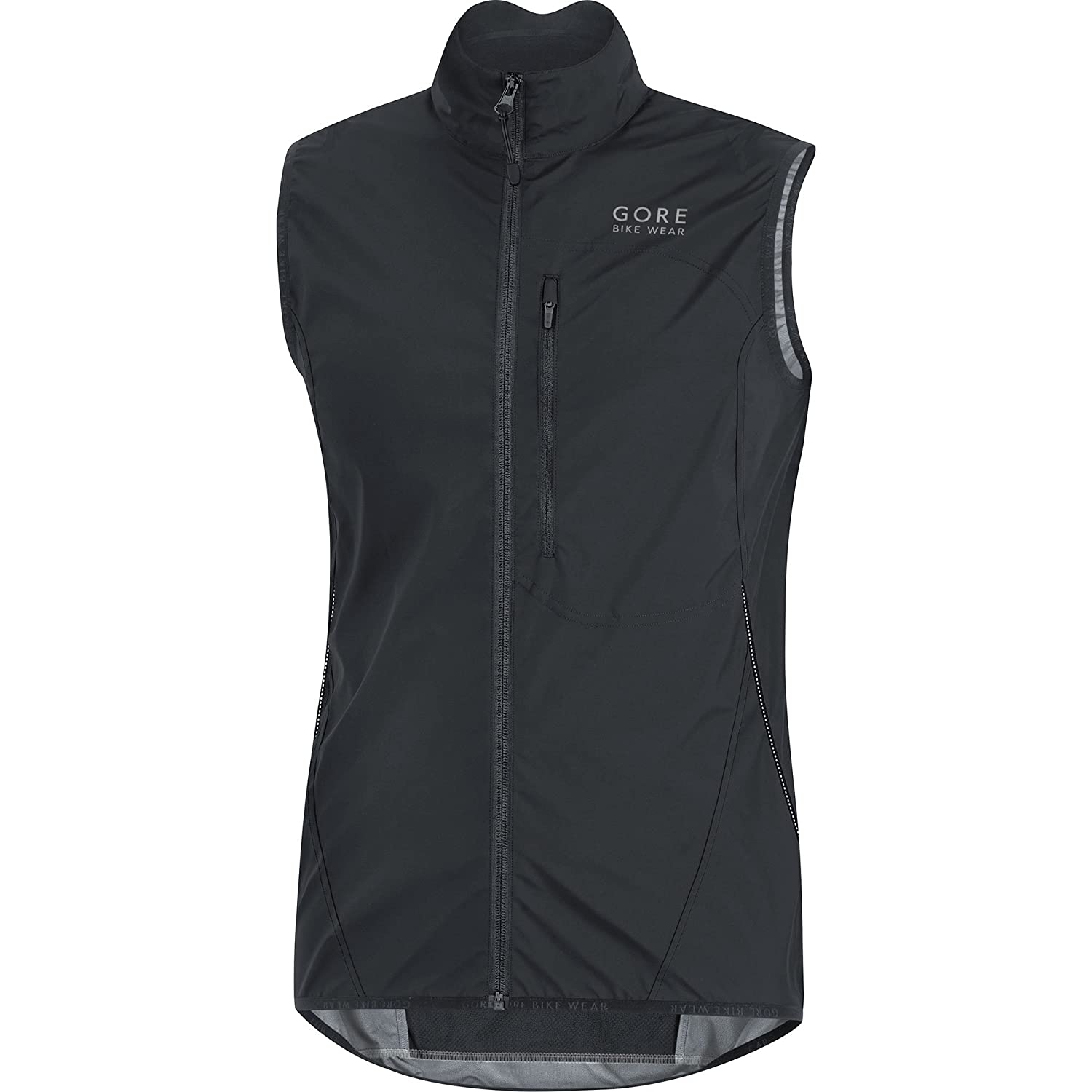 Gore Bike WEAR Men's Soft Shell Cycling Vest, Gore Windstopper, Vest, Size: L, Black, VWELMT