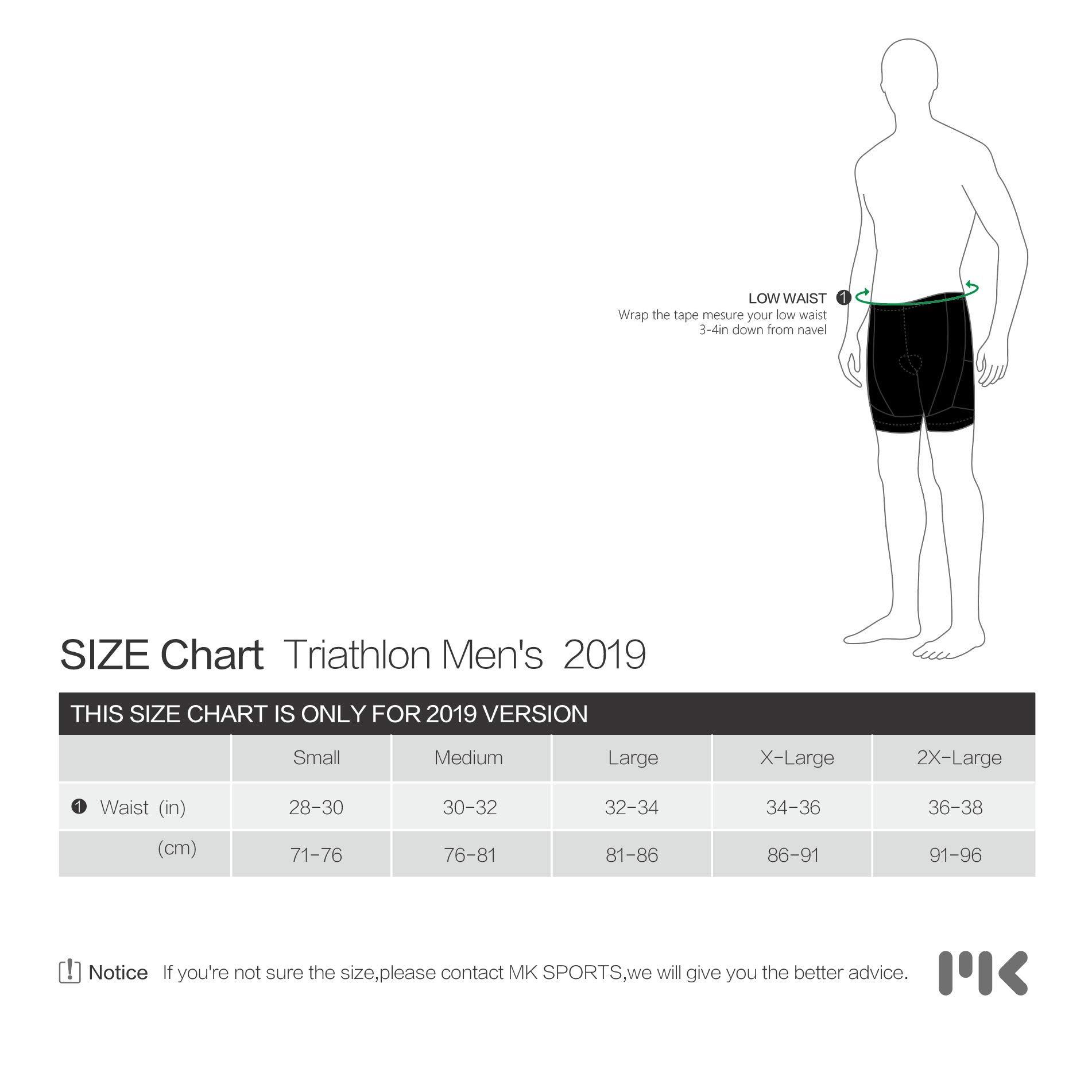 MY KILOMETRE Triathlon Shorts Mens 9'' with Adjustable Drawstring | Easy Reach Leg Pockets | Chamois for Long-Distance Tri Race Cycling Shorts by MY KILOMETRE (Image #4)