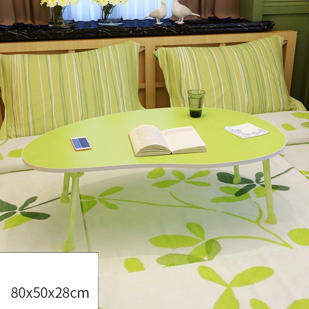 FEIFEI ポータブル折り畳みテーブルマンゴースタイリングデスクトップ、子供の読書台、ラップトップテーブル、ソファ朝食テーブル80 * 50 * 28CM ( 色 : 緑 ) B07CG8K3S6 緑 緑