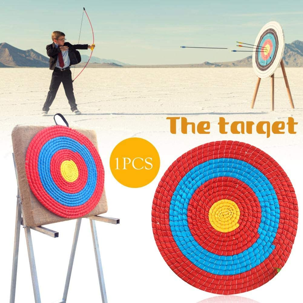 Diameter Navigatee Straw Target Outdoor Sports Archery Shooting Bow Straw Arrow Target Single Layer 55 cm Fixed Pins Are Not Included