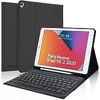 Teclado Español para iPad 10.2,KVAGO Funda con Teclado Bluetooth para iPad 8ª Generación 2020 10.2 /iPad 2019 10.2/iPad…