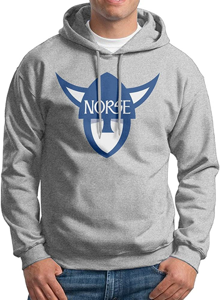 DETO Mens Luther College Norse Hooded Sweatshirt Ash