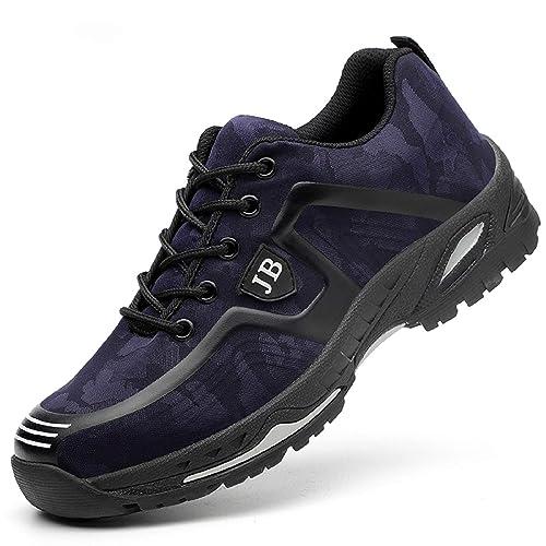 tqgold Zapatillas de Seguridad para Hombre Mujer Comodas S3 Zapatos de Trabajo con Puntera de Acero con Suela Antideslizante: Amazon.es: Zapatos y ...