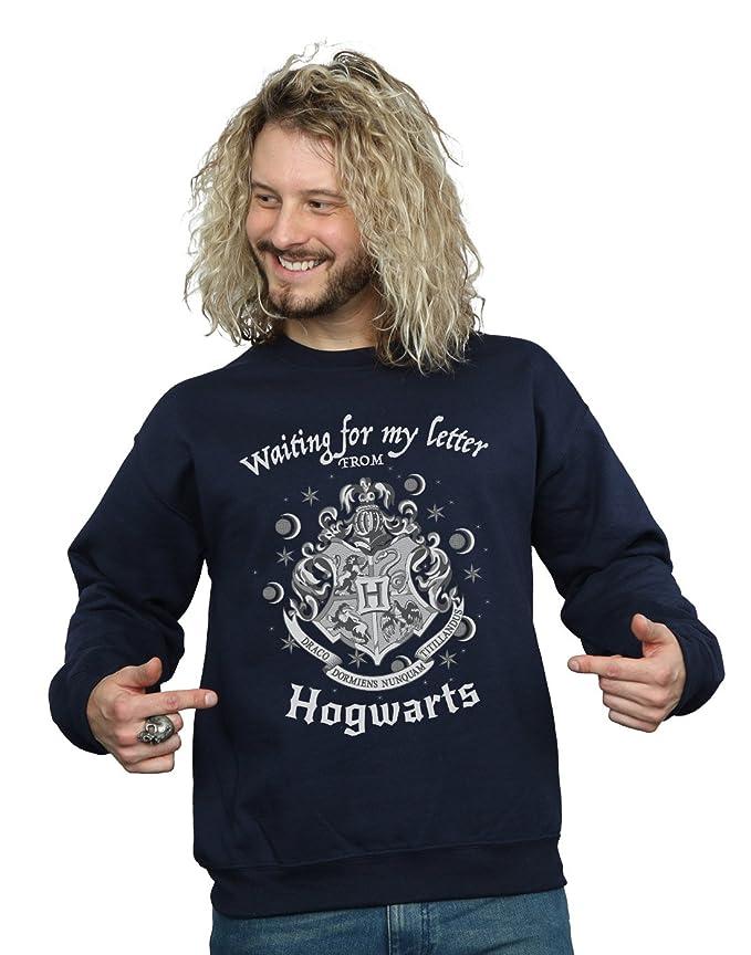 Harry Potter Hombre Hogwarts Waiting For My Letter Camisa De Entrenamiento: Amazon.es: Ropa y accesorios
