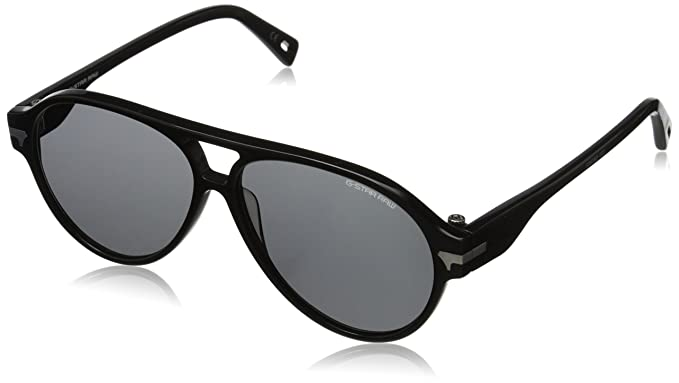 b485bf3456 G-Star Raw GS608S 001 Black Thin Sniper Aviator Sunglasses Lens Category 3   Amazon.co.uk  Clothing