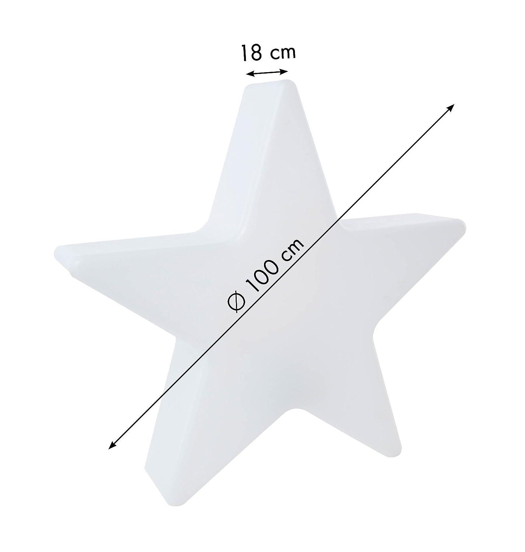 wei/ß 8 seasons design LED Dekoleuchte Weihnachten Stern Shining Star Merry Christmas /Ø 60 cm, Farbwechsel, dimmbar, f/ür Haus /& Garten