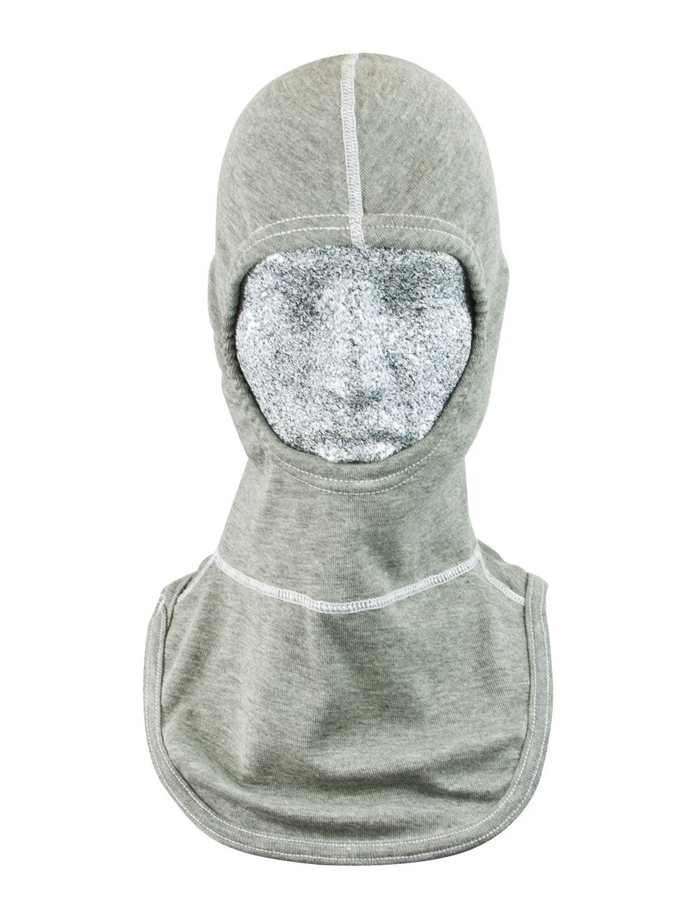 PGI 3092093 Fire Fighting and Arc Resistant Hood, Cobra Double Ply Hood with Single Ply Bib, para-Tek Fr Tri-Blend, One Size, Heather Gray