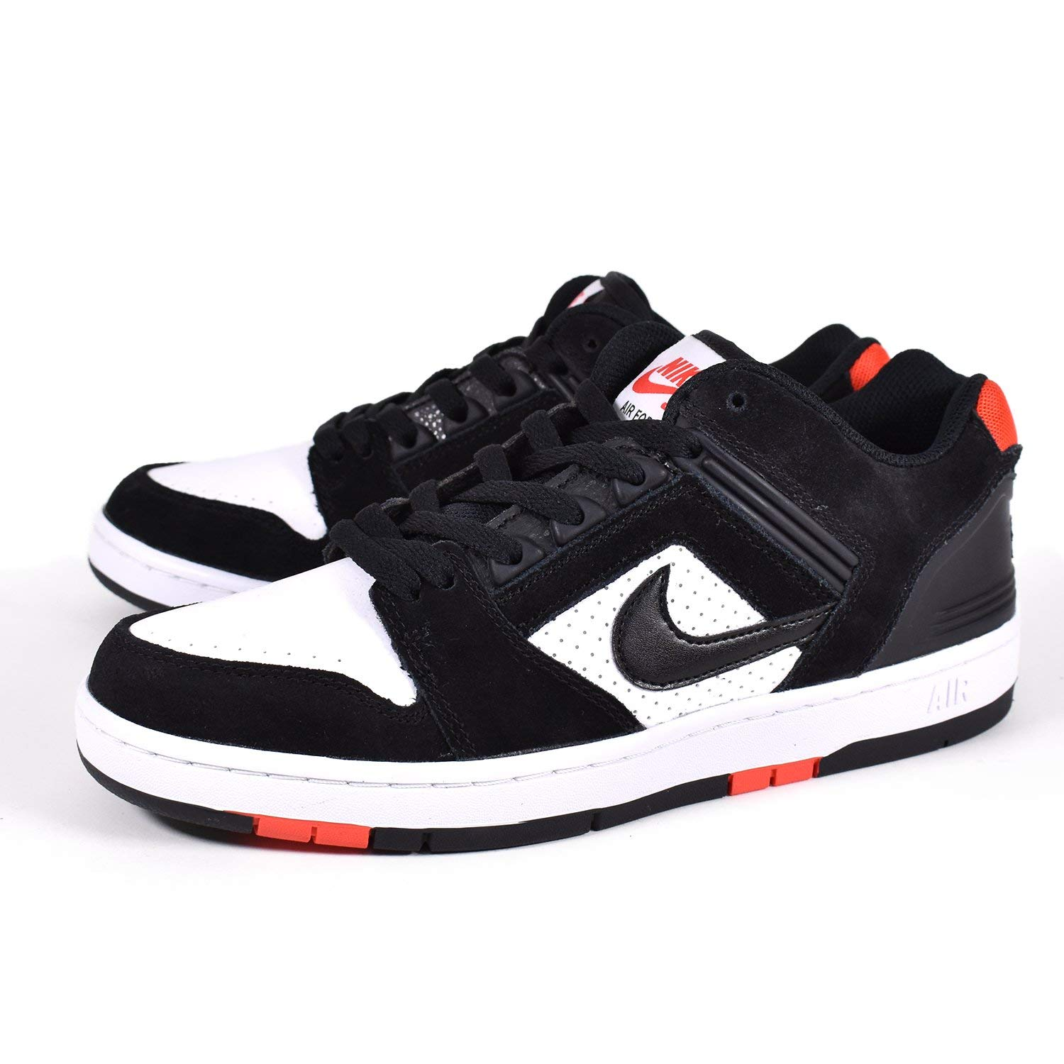 Nike Men s SB Air Force II Low, Black Black-White-Habanero RED