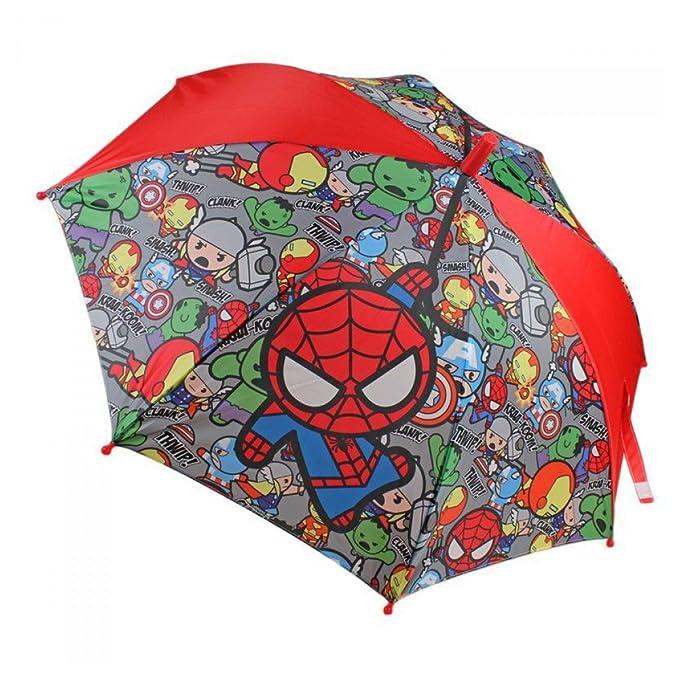 Marvel - Paraguas automatico calidad premium de kawaii marvel, tamaño 48 cm