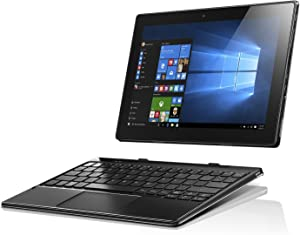 Lenovo IdeaPad Miix 310, 10.1-Inch Windows Laptop, 2 in 1 Laptop, (Intel Atom X5 Z8350, 1.44 GHz, 2 GB RAM, 64 GB eMMC, Windows 10), Black, 80SG001FUS