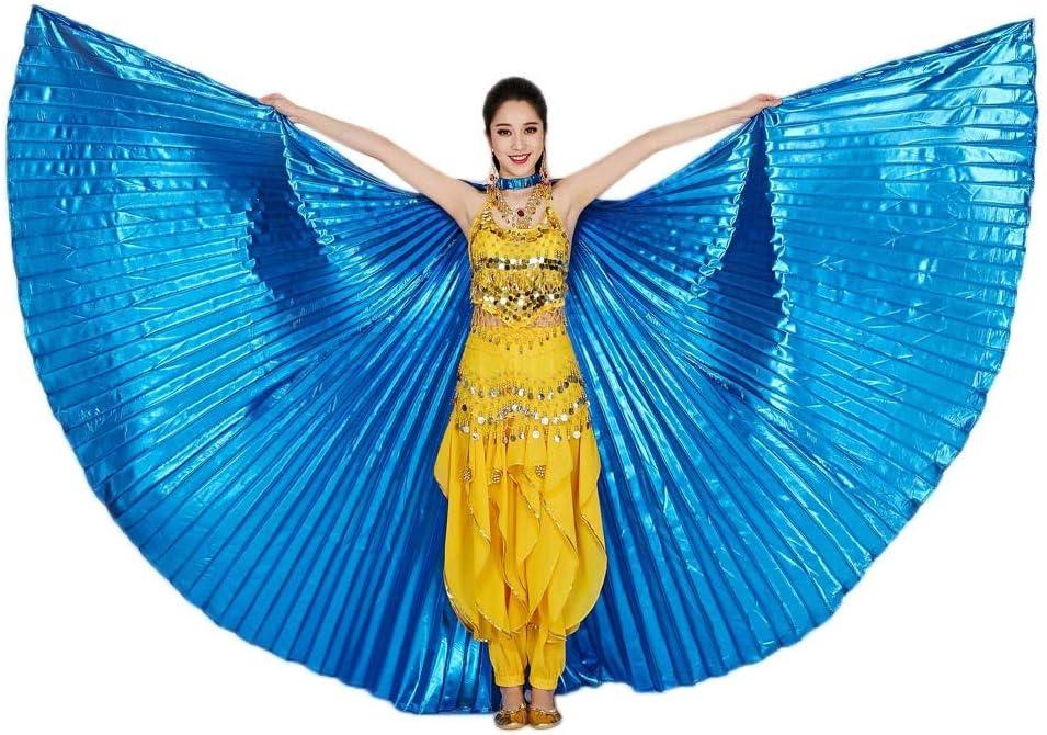 TUDUZ Egipto Belly Wings Dancing Costume Accesorios para Danza del Vientre No se Pega (Azul)