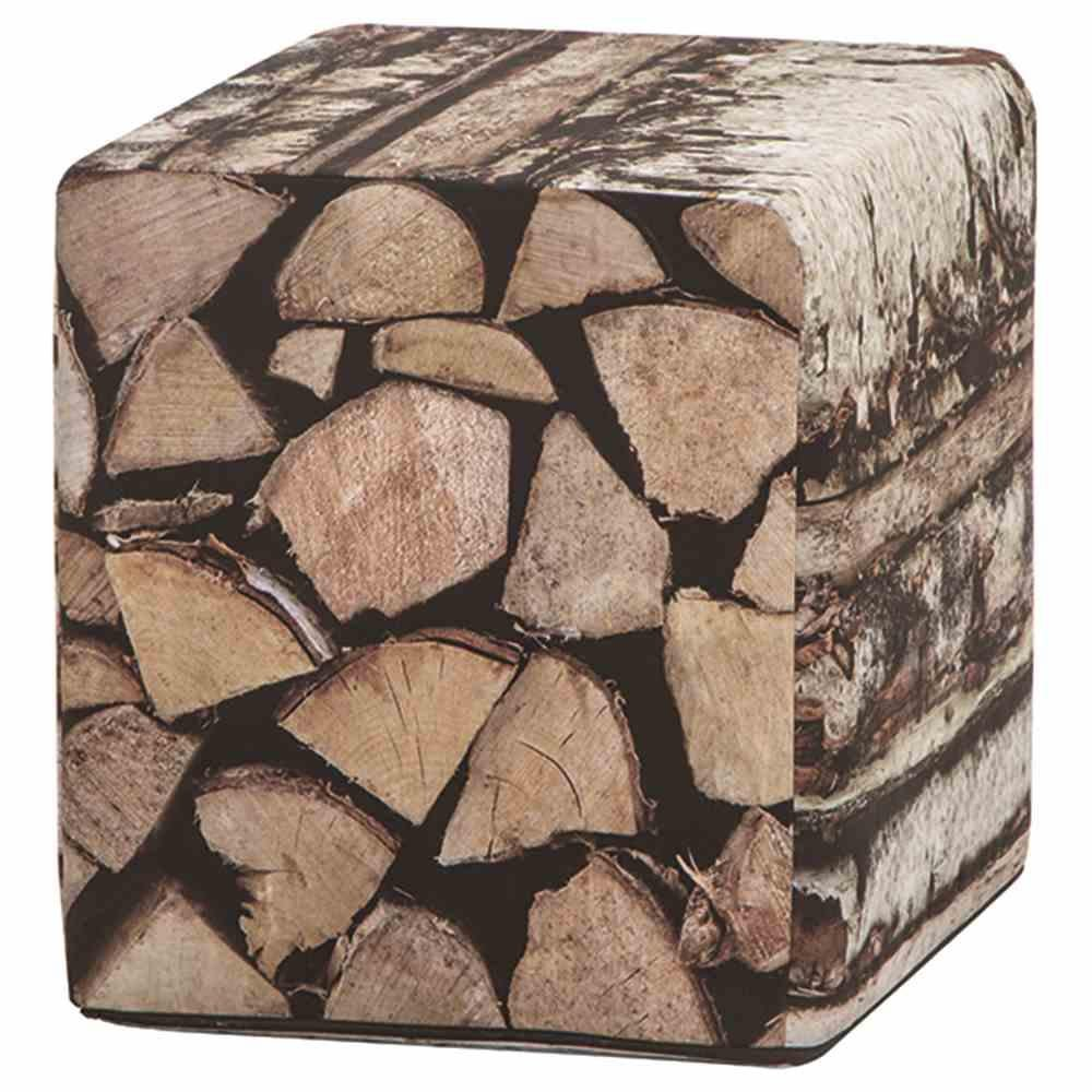 Holzstapel Hocker 40x45 cm Bezug 100% PE, PU beschichtet